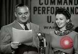 Image of command radio performance Hollywood Los Angeles California USA, 1943, second 46 stock footage video 65675032039