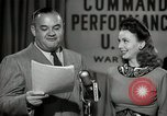 Image of command radio performance Hollywood Los Angeles California USA, 1943, second 47 stock footage video 65675032039