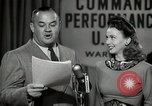 Image of command radio performance Hollywood Los Angeles California USA, 1943, second 48 stock footage video 65675032039