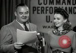 Image of command radio performance Hollywood Los Angeles California USA, 1943, second 49 stock footage video 65675032039