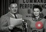 Image of command radio performance Hollywood Los Angeles California USA, 1943, second 50 stock footage video 65675032039