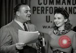 Image of command radio performance Hollywood Los Angeles California USA, 1943, second 51 stock footage video 65675032039