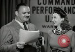 Image of command radio performance Hollywood Los Angeles California USA, 1943, second 52 stock footage video 65675032039