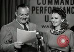 Image of command radio performance Hollywood Los Angeles California USA, 1943, second 53 stock footage video 65675032039