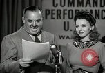 Image of command radio performance Hollywood Los Angeles California USA, 1943, second 55 stock footage video 65675032039