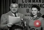 Image of command radio performance Hollywood Los Angeles California USA, 1943, second 56 stock footage video 65675032039