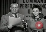 Image of command radio performance Hollywood Los Angeles California USA, 1943, second 57 stock footage video 65675032039