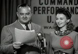 Image of command radio performance Hollywood Los Angeles California USA, 1943, second 58 stock footage video 65675032039