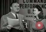 Image of command radio performance Hollywood Los Angeles California USA, 1943, second 60 stock footage video 65675032039