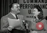 Image of command radio performance Hollywood Los Angeles California USA, 1943, second 61 stock footage video 65675032039