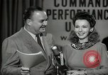 Image of command radio performance Hollywood Los Angeles California USA, 1943, second 62 stock footage video 65675032039