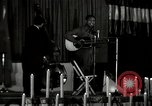 Image of Joshua Daniel White sings at Paul Robeson event New York City USA, 1944, second 2 stock footage video 65675032043