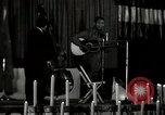 Image of Joshua Daniel White sings at Paul Robeson event New York City USA, 1944, second 3 stock footage video 65675032043