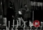 Image of Joshua Daniel White sings at Paul Robeson event New York City USA, 1944, second 5 stock footage video 65675032043