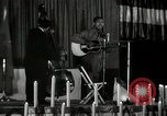 Image of Joshua Daniel White sings at Paul Robeson event New York City USA, 1944, second 8 stock footage video 65675032043