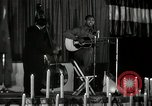 Image of Joshua Daniel White sings at Paul Robeson event New York City USA, 1944, second 9 stock footage video 65675032043