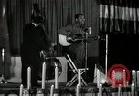 Image of Joshua Daniel White sings at Paul Robeson event New York City USA, 1944, second 14 stock footage video 65675032043