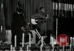 Image of Joshua Daniel White sings at Paul Robeson event New York City USA, 1944, second 15 stock footage video 65675032043