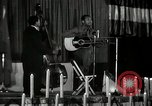 Image of Joshua Daniel White sings at Paul Robeson event New York City USA, 1944, second 18 stock footage video 65675032043