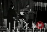 Image of Joshua Daniel White sings at Paul Robeson event New York City USA, 1944, second 23 stock footage video 65675032043