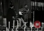 Image of Joshua Daniel White sings at Paul Robeson event New York City USA, 1944, second 24 stock footage video 65675032043
