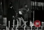 Image of Joshua Daniel White sings at Paul Robeson event New York City USA, 1944, second 25 stock footage video 65675032043