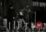 Image of Joshua Daniel White sings at Paul Robeson event New York City USA, 1944, second 26 stock footage video 65675032043