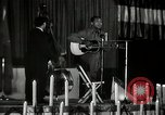 Image of Joshua Daniel White sings at Paul Robeson event New York City USA, 1944, second 27 stock footage video 65675032043