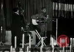 Image of Joshua Daniel White sings at Paul Robeson event New York City USA, 1944, second 30 stock footage video 65675032043