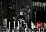 Image of Joshua Daniel White sings at Paul Robeson event New York City USA, 1944, second 31 stock footage video 65675032043