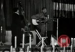 Image of Joshua Daniel White sings at Paul Robeson event New York City USA, 1944, second 32 stock footage video 65675032043