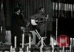 Image of Joshua Daniel White sings at Paul Robeson event New York City USA, 1944, second 40 stock footage video 65675032043
