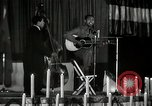 Image of Joshua Daniel White sings at Paul Robeson event New York City USA, 1944, second 44 stock footage video 65675032043