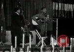 Image of Joshua Daniel White sings at Paul Robeson event New York City USA, 1944, second 46 stock footage video 65675032043