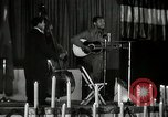 Image of Joshua Daniel White sings at Paul Robeson event New York City USA, 1944, second 47 stock footage video 65675032043