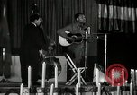 Image of Joshua Daniel White sings at Paul Robeson event New York City USA, 1944, second 49 stock footage video 65675032043