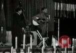Image of Joshua Daniel White sings at Paul Robeson event New York City USA, 1944, second 51 stock footage video 65675032043