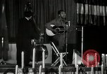 Image of Joshua Daniel White sings at Paul Robeson event New York City USA, 1944, second 54 stock footage video 65675032043