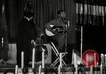 Image of Joshua Daniel White sings at Paul Robeson event New York City USA, 1944, second 55 stock footage video 65675032043