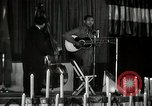 Image of Joshua Daniel White sings at Paul Robeson event New York City USA, 1944, second 56 stock footage video 65675032043