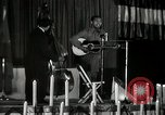 Image of Joshua Daniel White sings at Paul Robeson event New York City USA, 1944, second 58 stock footage video 65675032043