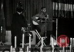 Image of Joshua Daniel White sings at Paul Robeson event New York City USA, 1944, second 59 stock footage video 65675032043