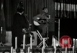 Image of Joshua Daniel White sings at Paul Robeson event New York City USA, 1944, second 60 stock footage video 65675032043