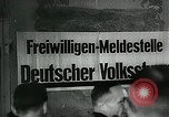 Image of German soldier recruitment and civilian clothing donations late World  Germany, 1945, second 27 stock footage video 65675032094