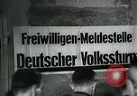 Image of German soldier recruitment and civilian clothing donations late World  Germany, 1945, second 28 stock footage video 65675032094