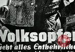 Image of German soldier recruitment and civilian clothing donations late World  Germany, 1945, second 42 stock footage video 65675032094