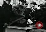 Image of German soldier recruitment and civilian clothing donations late World  Germany, 1945, second 62 stock footage video 65675032094