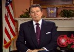 Image of President Ronald Reagan sends holiday greetings to people of Soviet Union Washington DC  USA, 1988, second 12 stock footage video 65675032118