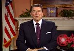 Image of President Ronald Reagan sends holiday greetings to people of Soviet Union Washington DC  USA, 1988, second 20 stock footage video 65675032118