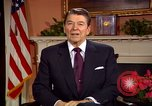 Image of President Ronald Reagan sends holiday greetings to people of Soviet Union Washington DC  USA, 1988, second 24 stock footage video 65675032118